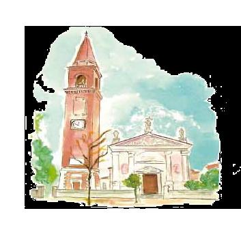 Facciata della Chiesa di Santa Bona